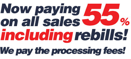 Now paying on all sales including rebills! We pay the processing fees!